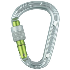 Edelrid HMS Strike Mosquetón Screw Lock, silver